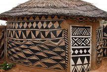 Casas africanas ornamentadas