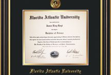 Florida Atlantic University - FAU - Diploma Frames & Graduation Gifts! / Official FAU Diploma frames. Exquisitely crafted to exacting specifications for the FAU diploma. Custom framed using hardwood mouldings and all archival materials, including UV glass to prevent fading from sunlight AND indoor incandescent lighting! Each frame exceeds Library of Congress standards for document preservation and includes a 100% lifetime guarantee, ensuring that a hard-earned achievement will be honored and protected for generations. Makes a thoughtful and unique graduation gift!