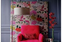 Floral interiors-  Decorating, fabrics and wallpapers