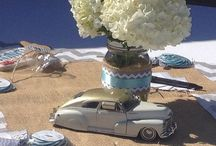 W & S Car themed centrepieces