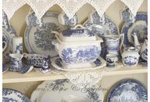 Blue earthenware