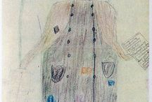 """Революция 1917 года в рисунках детей - очевидцев событий / Коллекция рисунков собрана В.С. Вороновым и передана Государственному историческому музею в 1919 году. В 1987 году была издана книга «Москва. 1917 год. Рисунки детей-очевидцев событий» (составитель и автор текстов - Н.Н.Гончаров. Данной теме посвящено несколько публикаций в интернет-журнале """"Подмосковный краевед""""  (http://trojza.blogspot.ru), откуда и сохранены изображения."""