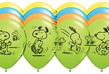 Snoopy Party Ideas / balloons and party ideas for a colorful Peanuts Gang party