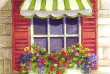 Kotak bunga jendela