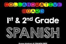 1st & 2nd Grade Spanish Collaborative Board / A First & Second Grade Spanish collaborative board. Want to join this board? Follow me. Then send me an email with your Pinterest url at spanishprep@gmail.com *Limit yourself to three freebie/paid products per day!*