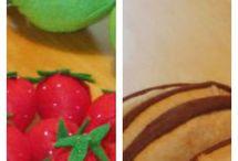 Felt foods and toys DIY