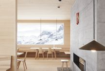 Materials: concrete and wood