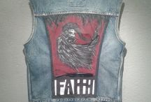 CUSTOM DENIM VESTS / Custom crafted and painted denim vest