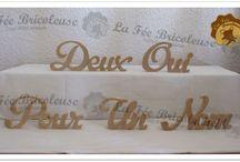 Lettres en bois à poser (initiales) / Lettres en bois personnalisées pour votre mariage