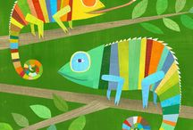 Crocs, gators, & lizards - illustration / Illustration