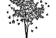 Raamsticker  Vogelboom