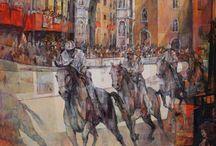 Angelo Bellini / Artiste Italien, inspiré par les peintres vénitiens du xvi e siècle. Né à Mantoue en 1938.