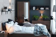 small bedroom layouts with dark colors
