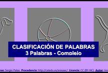 Intrusos - Nivel compejo / http://informaticaparaeducacionespecial.blogspot.com.es/2009/05/clasificacion-de-palabras-3-elementos_20.html