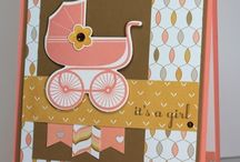 Stampin' Up Something for Baby inspiration board / Stampin' Up Something for Baby stamp set and framelits