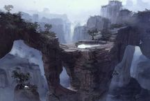Concept art landscapes (from diverse artists)