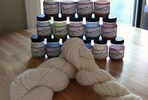 Dyeing wool yarn