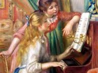 Renoir - the two young girls / I love the warmth in Renoir's paintings.