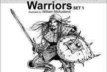 Fantasy Stock Ink Art by William McAusland:: Fantasy Clip Inks