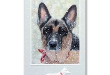 Dog Christmas Cards / This years collection of Dog Christmas Cards - all cards feature a dog or have a dog in the design!