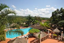 """Jinja Nile Resort / voted the """"Best Weekend Getaway"""" and """"Best country Hotel in Uganda for 5 years in a row, popular with both business and tourist, the resort is spread over 75 acres of lush gardens with beautiful landscaped lawns, palm trees and tropical plants. The Resort has 134 rooms, 3 conference halls, and a boadroom."""