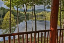 Places I Would LOVE To Stay / Some of the newest cabins from Blue Sky Cabin Rentals in Ellijay and Blue Ridge areas of #NorthGeorgia