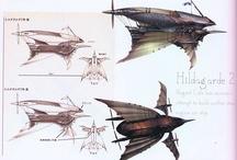 エアシップ / 飛行船のイラストや写真