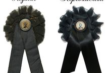 Buy Lincoln Mourning Cockades / These are all badges that I've created based on original Lincoln Mourning badges.