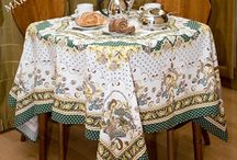Tablecloth from Pavlovo Posad / This tablecloths are produced in Pavlovsky Posad, Moscow region, Russia by Pavlovo Posad Shawl Manufactory, Co, established in 1795. All products of the «Pavlovo Posad Shawl Manufactory» are made from pure 100% natural  fibers: wool, cotton, silk.
