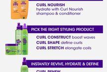 tuotteet kiharille hiuksille