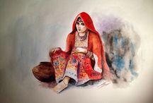 Meena Saifi (1990-) / Art from Afghanistan.