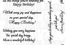 Greetings for cards / Birthday& otherwise