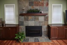 fireplace designs / Fireplace designs from Mountainwood Homes remodeling projects.