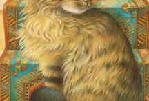 Lesley Anne Ivory's Cat Art / Elegant & endearing tribute to felines / by Carolyn Larousse