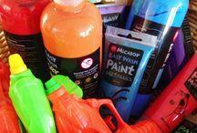 Neon paint dance party