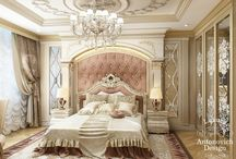 classical paneling bed room