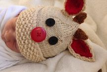 Knit baby hats / Reindeer baby hat