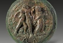 Ancient mirrors Greek mirror Etruscan mirror Roman mirror / Roman gilded bronze mirror - Roman mirror - Greek mirror - Etruscan mirror - Byzantine mirror - Bronze mirror