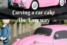 carving a car cake tutorial