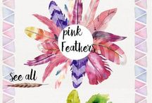 Watercolor : Feathers