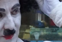 street performers / street performers,Charlie Chaplin,Karamela clown,white night stilt walker,face painter,magician, living statues spring ,White night Kavala.