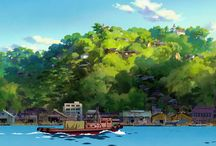 From Up On Poppy Hill / Background art from Hayao Miyazaki's 'From Up On Poppy Hill'