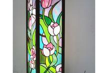 vitrážové lampičky