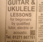 Ukulele lessons  / Pictures and videos of my guitar lessons