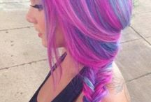 capelli colorati e tagli
