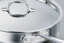 All-Clad Stainless / Professional-grade, triple-ply pans from All-Clad® are made with an extra-thick, pure aluminum core that extends from the bottom all the way up the sides for superior heat performance
