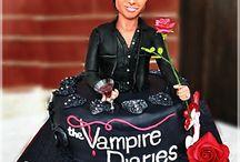 The Vampire Diaries - Damon Cake / The Vampire Diaries Cake  Wesh ArtsLab + Dolcezzerie