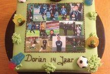 Foto Taarten / Een heerlijke taart versiert met een mooie foto of logo