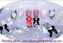 Wedding glasses HMDP ( Handmade by Diana Puiu)