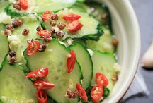 Pickled cucumbers / Salad